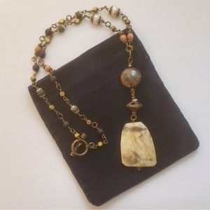 3 for $15 - Large Chunky Glass Pendant Necklace